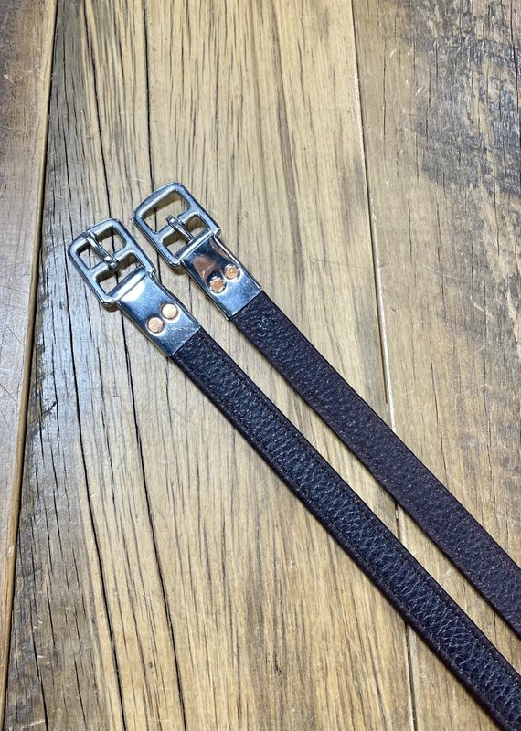 """M. Toulouse M. Toulouse 3/4"""" x 48"""" Chocolate Stirrup Leathers"""