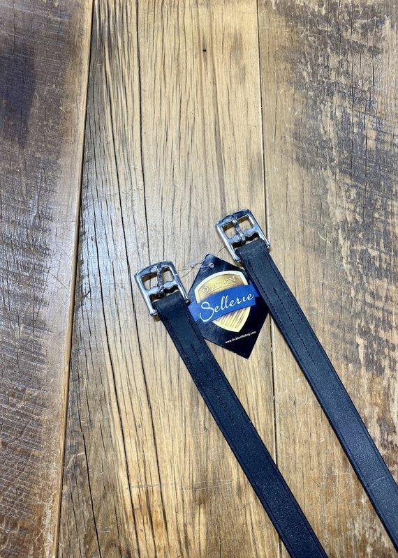 """Ovation Ovation 7/8"""" x 54"""" Black Stirrup Leathers"""