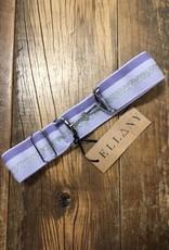 """Ellany Equestrian Ellany Lilac Stripes 1.5"""" Silver Snaffle Elastic Belt"""