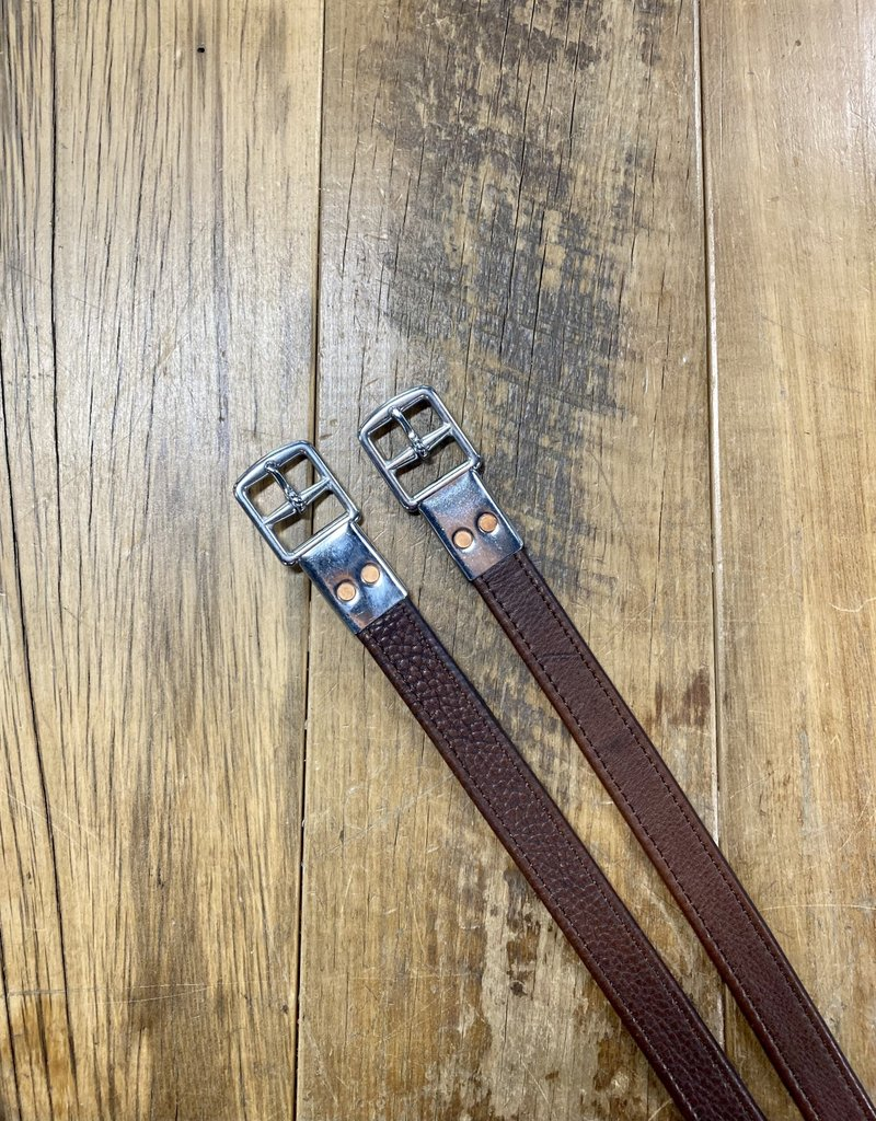 """M. Toulouse M. Toulouse 1"""" x 54"""" Chocolate Stirrup Leathers"""