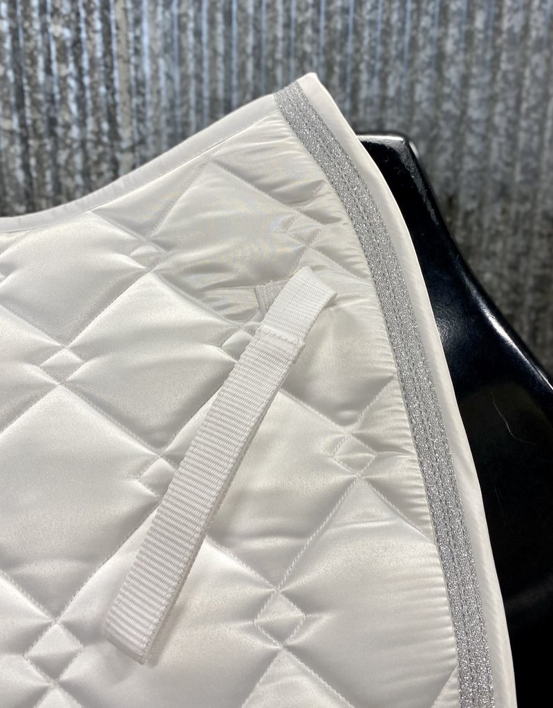 Equine Couture Equine Couture Pony Dressage Pad White/Silver Sparkle