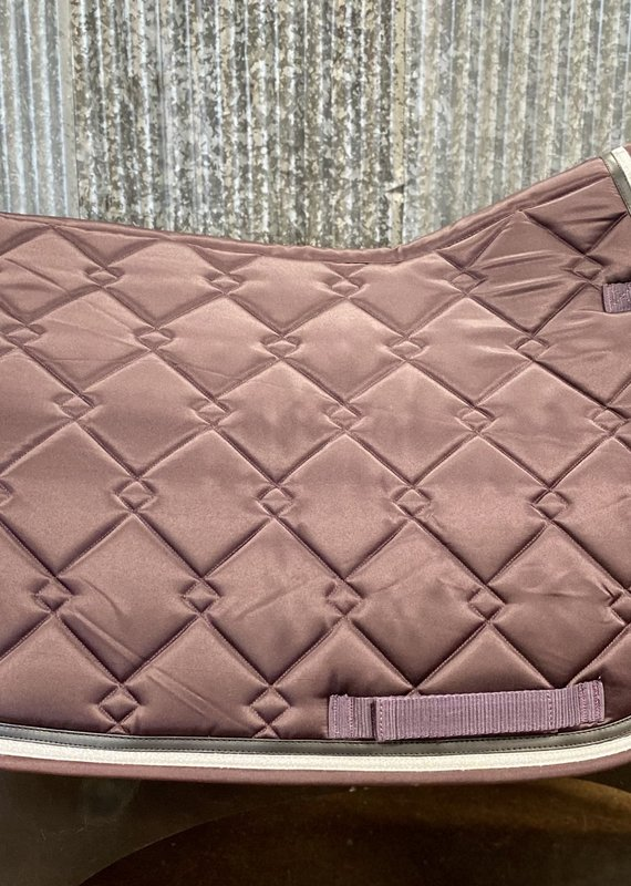 Equine Couture Equine Couture Satin All Purpose Saddle Pad Plum/Silver