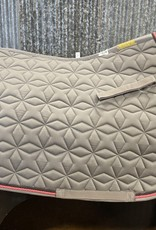 Roma Roma Close Contact Star Quilted Saddle Pad Grey/Pink/Black Full
