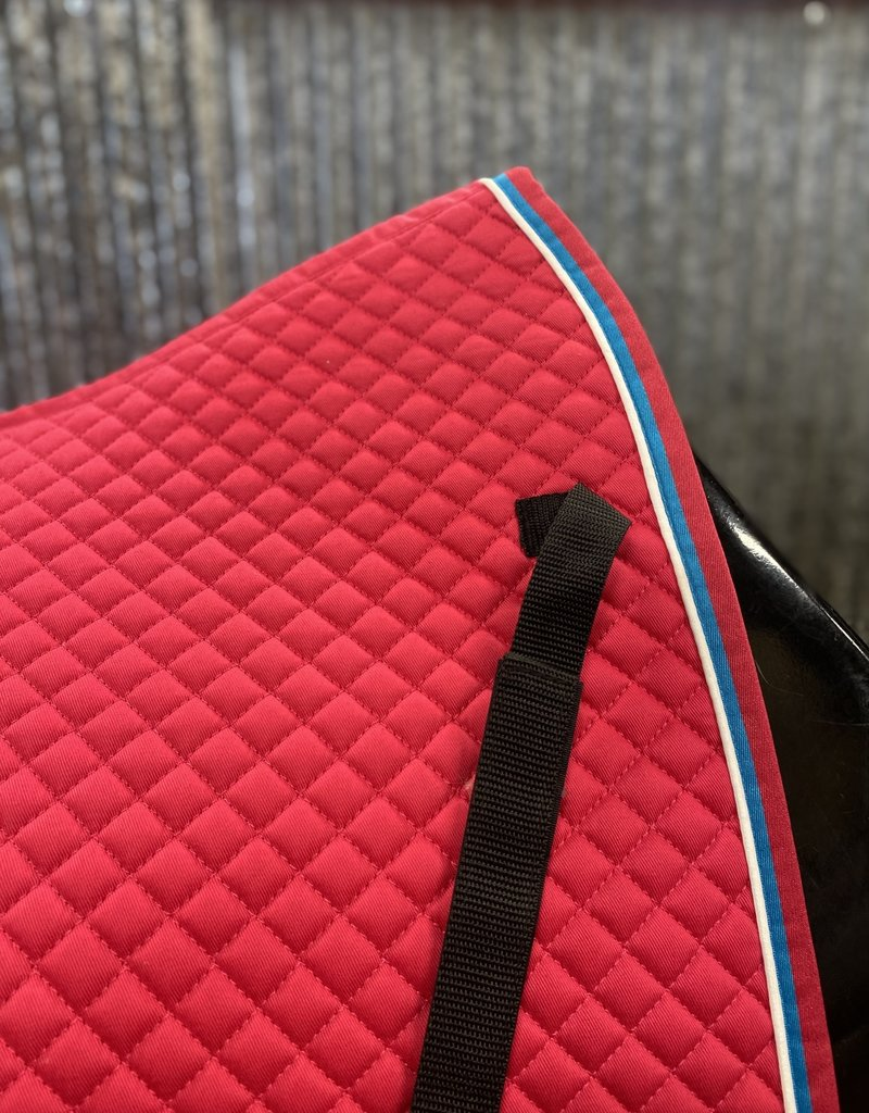 Shires Shires Deluxe Dressage Pad Hot Pink/Baby Blue/White