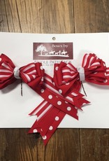 Bridle Path Tack Red and White Polka Dot Show Bows