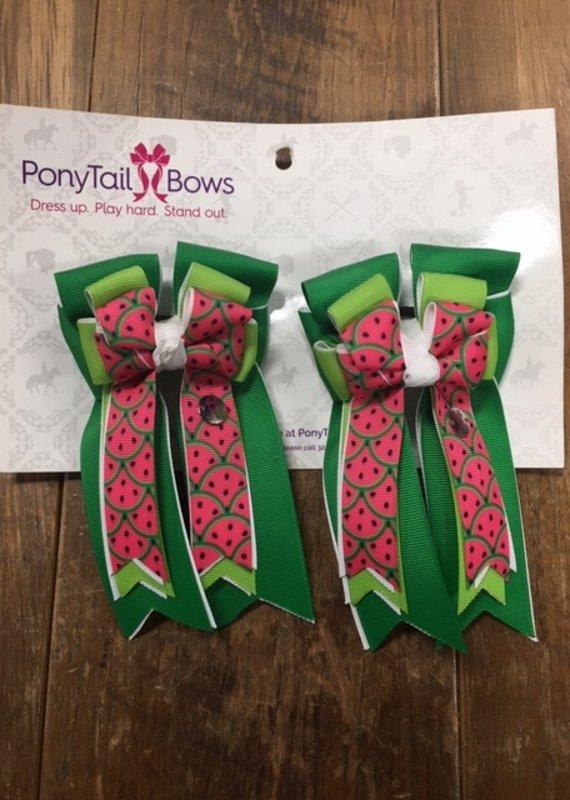 PonyTail Bows PonyTail Bows Watermelon