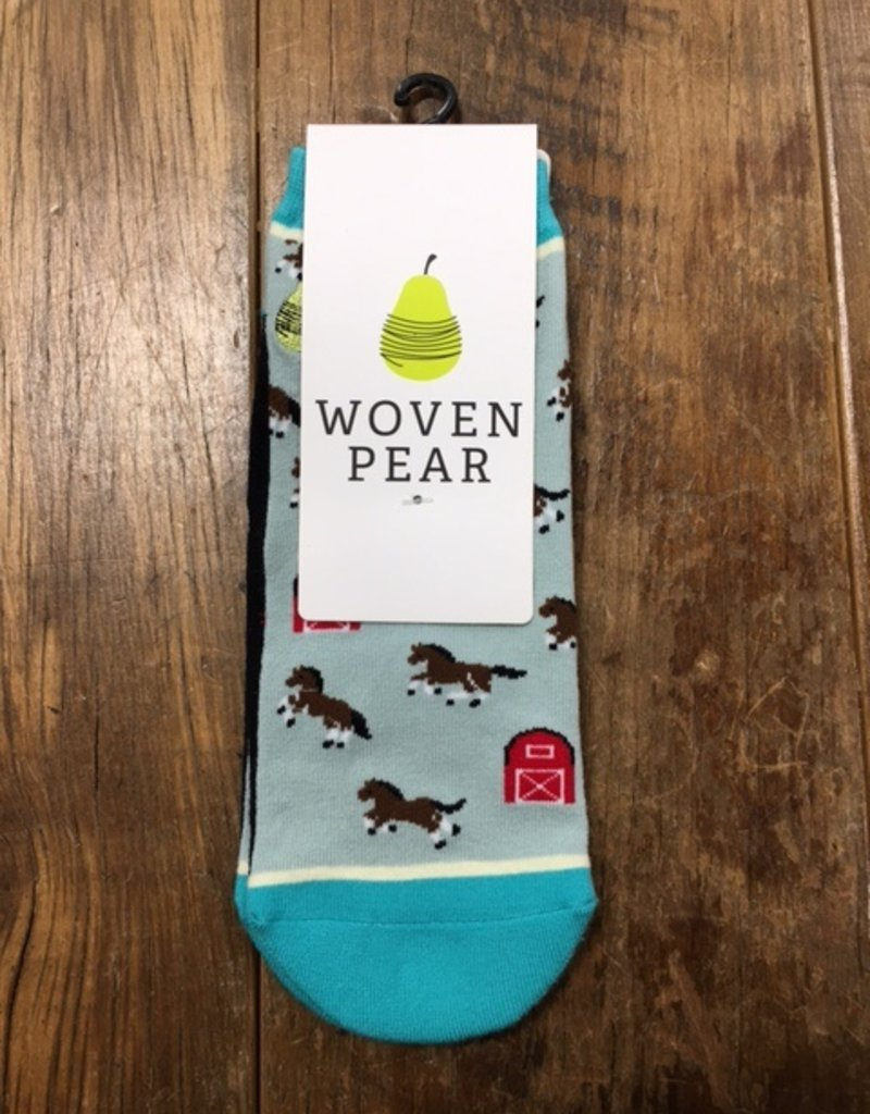 Woven Pear Woven Pear Horse Around Shorty Sock