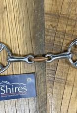 "Shires Shires Bevel Bit with Copper Lozenge 4.5"""