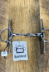 """Korsteel Korsteel Stainless Steel Slow Twist Full Cheek Snaffle 5"""""""