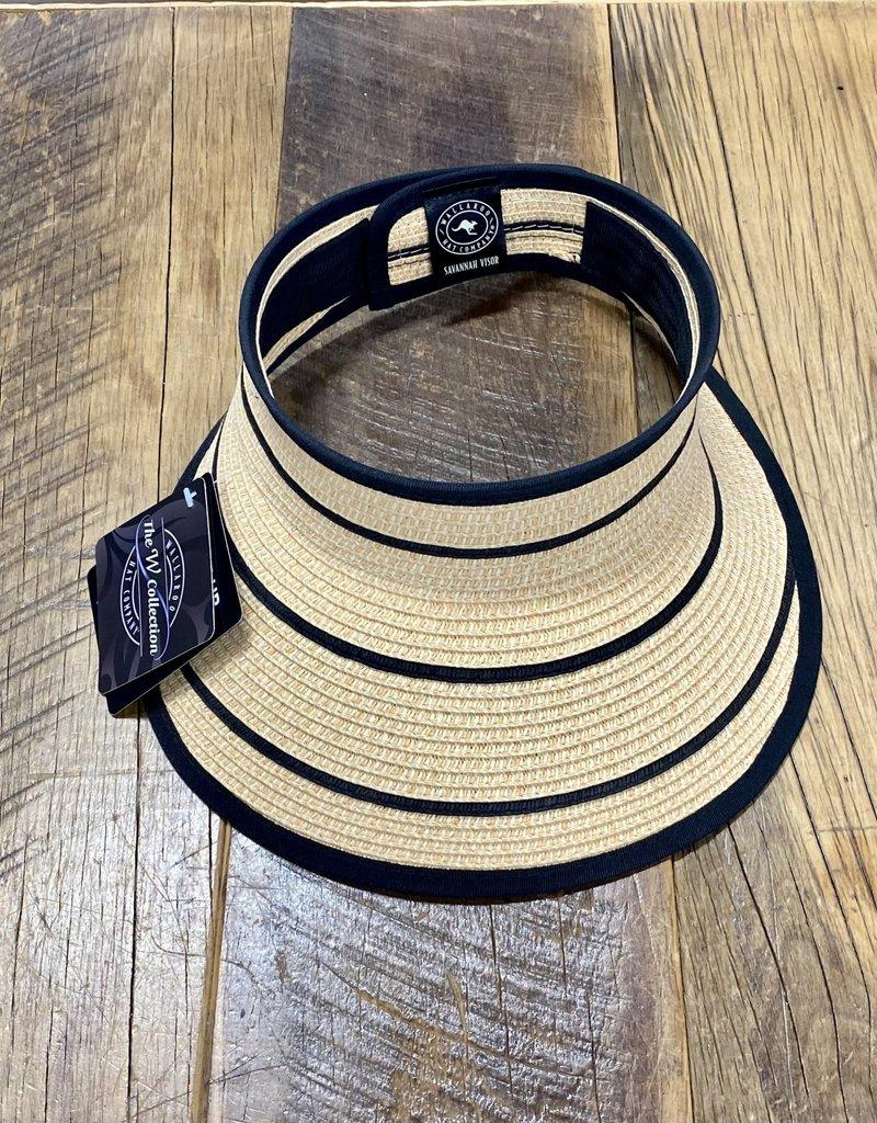 Wallaroo Hat Company Wallaroo Savannah Visor Camel/Black Stripes