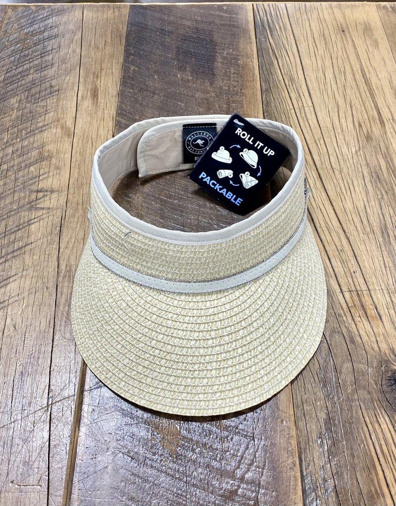 Wallaroo Hat Company Wallaroo Bianca Visor in Natural