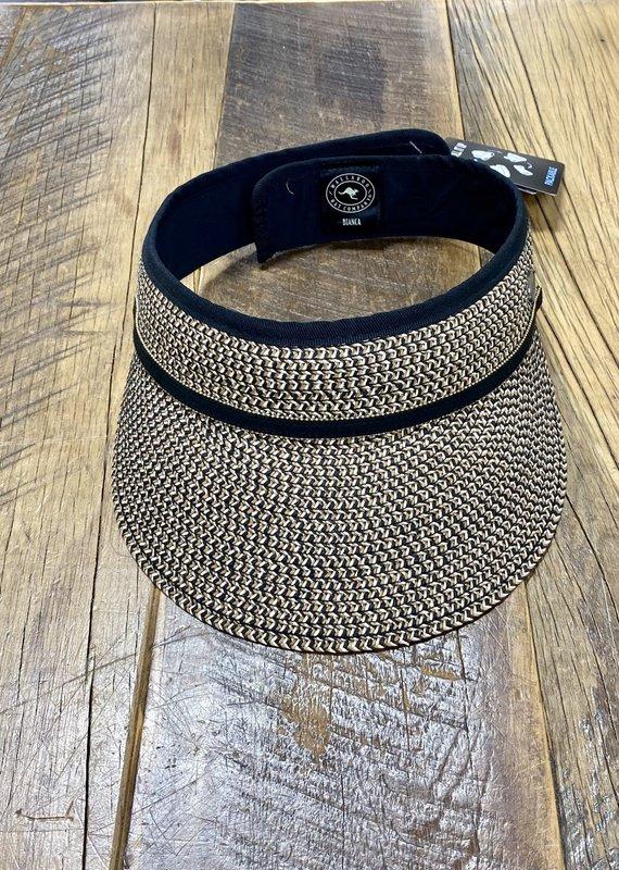 Wallaroo Hat Company Wallaroo Bianca Visor in Black