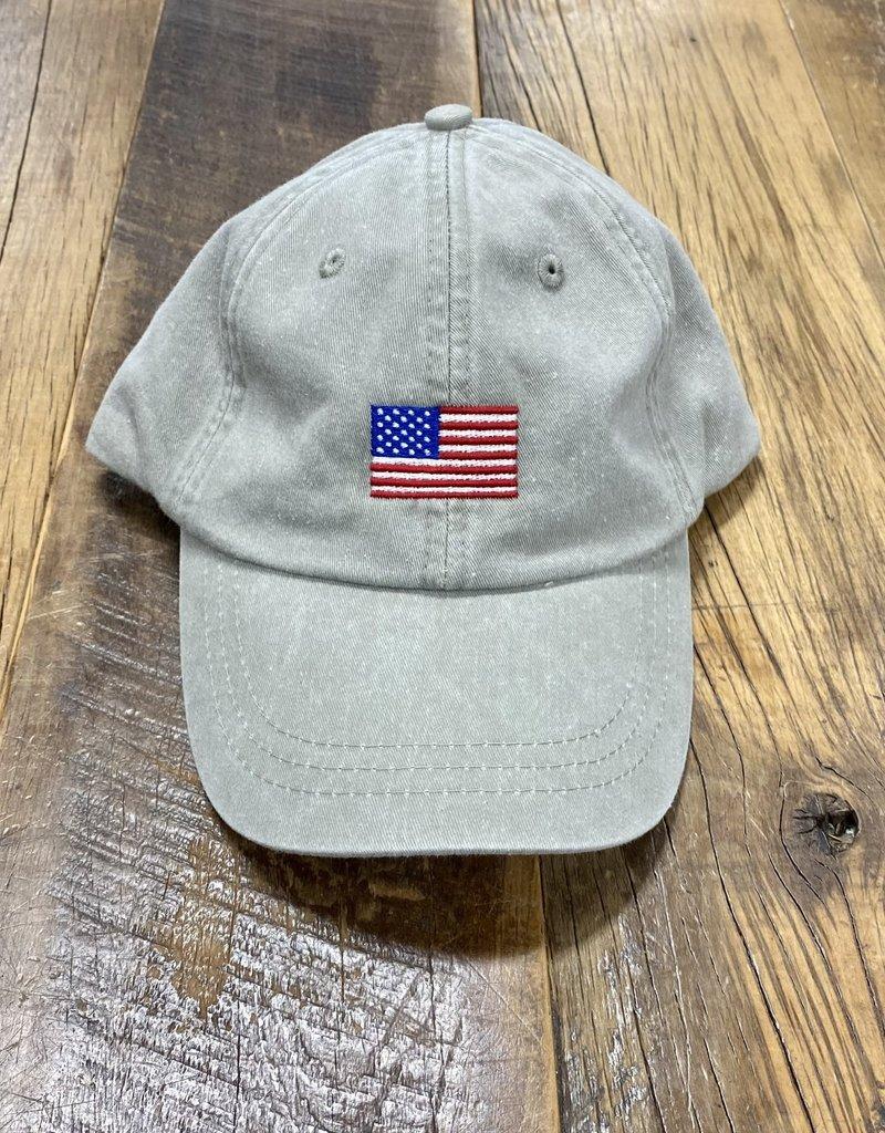 Bird Dog Bay Embroidered American Flag Cap