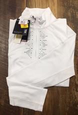 Ariat Ariat Women's Sunstopper Piaffe 2.0 1/4 Zip Baselayer White