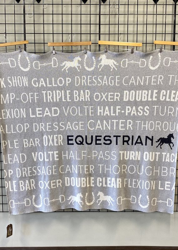in2green In2Green Eco Equestrian Text Throw