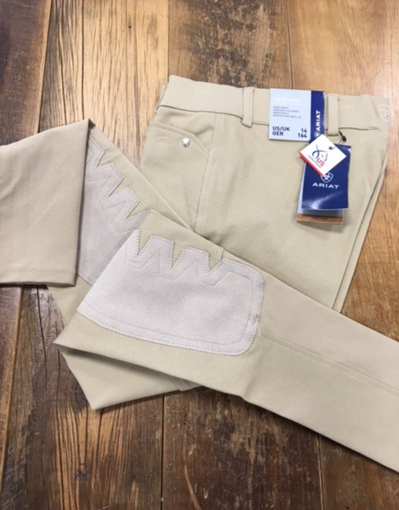 Ariat Ariat Youth Heritage Knee Patch Breech Tan