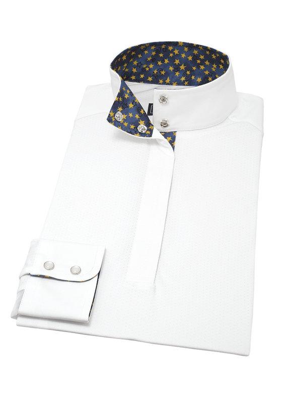 Essex Classics Yellow Stars Ladies Talent Yarn Wrap Collar Show Shirt