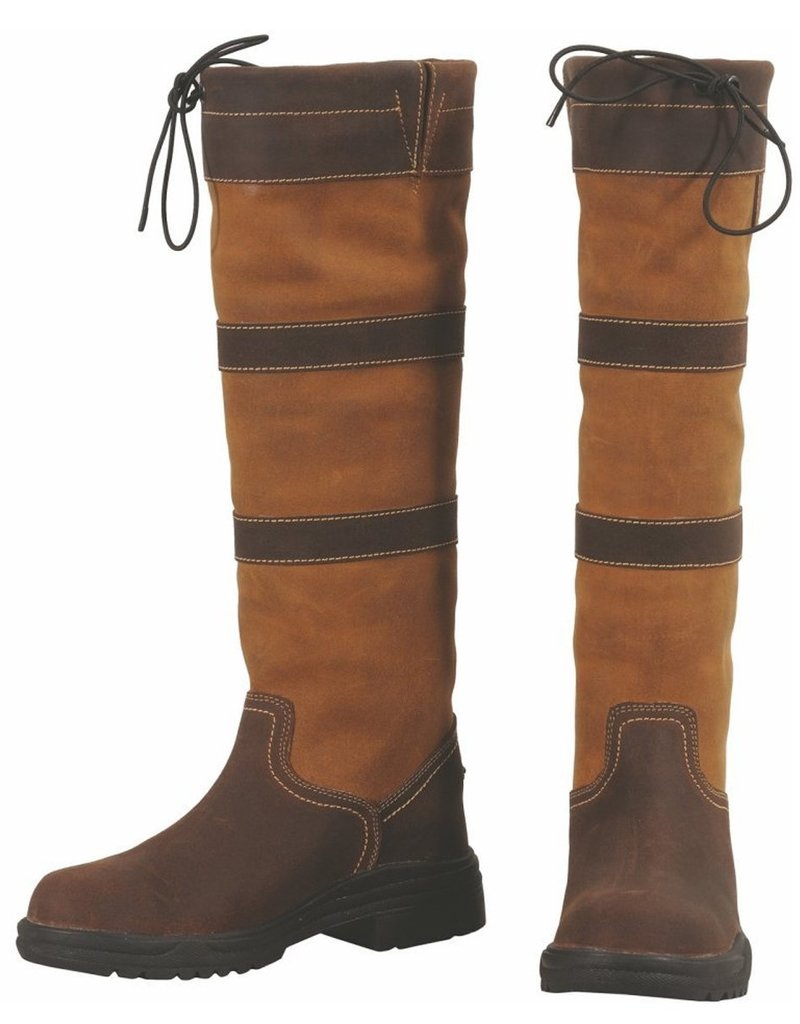 Tuffrider Ladies Tuffrider Lexington Waterproof Tall Boots Chocolate/Fawn