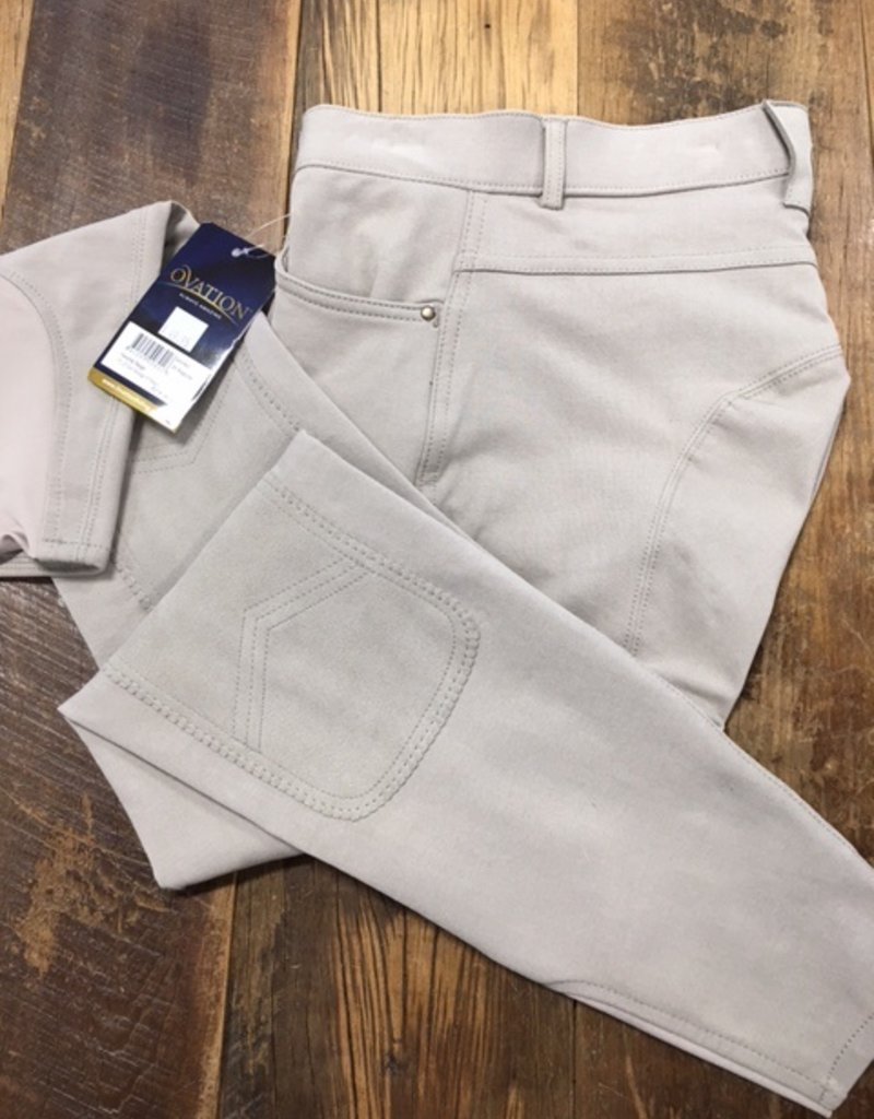Ovation Ovation Ladies SoftFlex Front Zip Classic Knee Patch Breeches