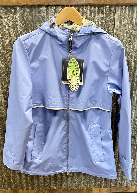 Charles River Charles River Women's New Englander Rain Jacket Periwinkle/ Reflective