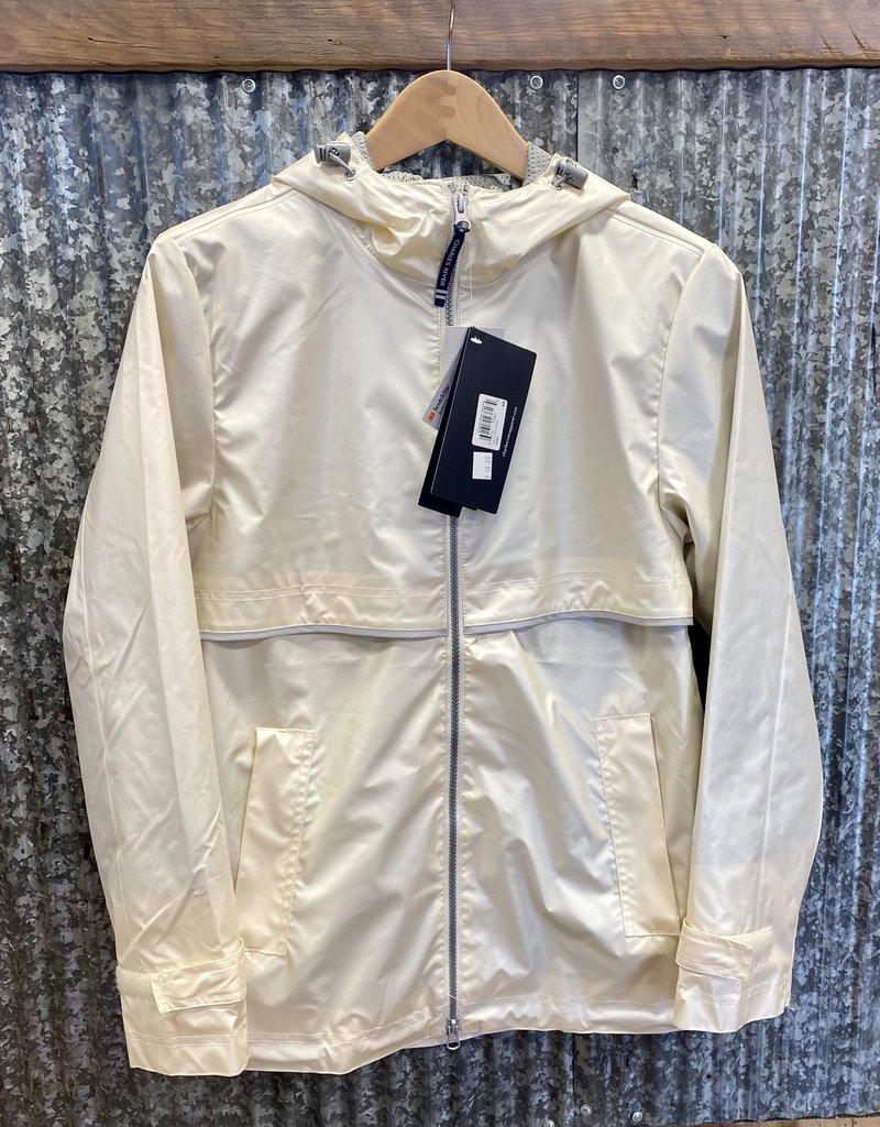 Charles River Charles River Women's New Englander Rain Jacket (Metallic) Ivory Pearl