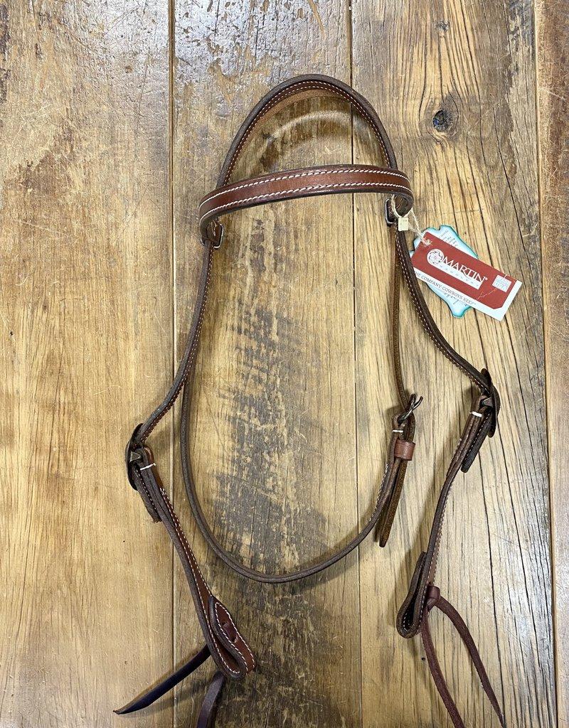Martin  Saddlery Martin Saddlery Chocolate Headstall with Browband