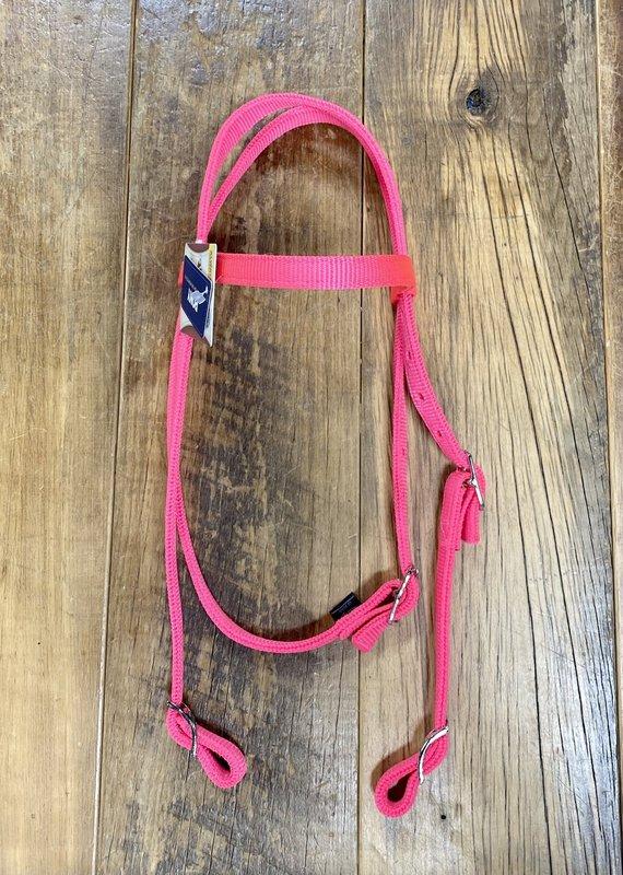 Weaver Leather Weaver Nylon Pony Headstall Diva Pink