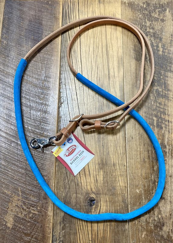 Weaver Leather Weaver Suede Covered Barrel Reins Turquoise