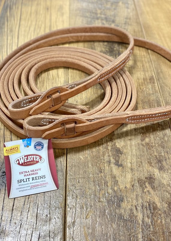 """Weaver Leather Weaver 5/8"""" X 8' Quick Change Split Reins With Tab"""