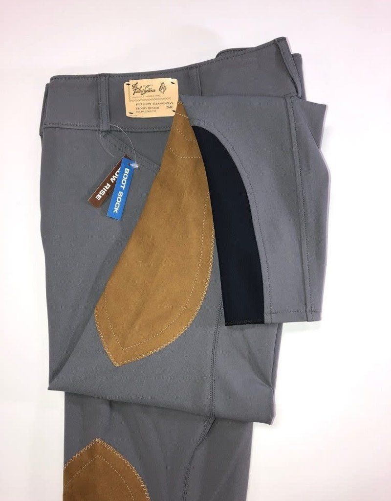 The Tailored Sportsman The Tailored Sportsman Women's Lowrise Bootsock Breeches Titanium Front Zip 32 R