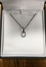 Kelly Herd Kelly Herd Clear Horseshoe Necklace- Sterling Silver