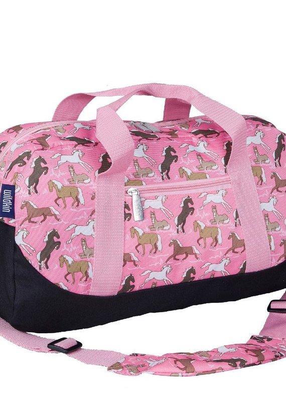 Wildkin Horses in Pink Overnighter Duffel Bag