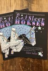 Eat Sleep Horses Adult Coloring Book