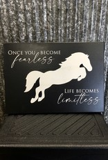 'Once You Become Fearless, Life Becomes Limitless' Wall Décor