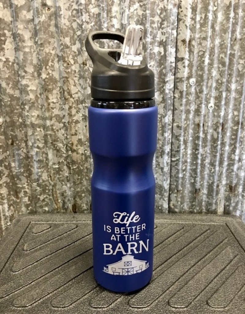 'Life Is Better At The Barn' Sports Bottle 28 oz