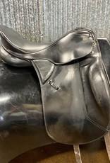 "Consignment Saddle #397 Kieffer 17.5"" Dressage Saddle"