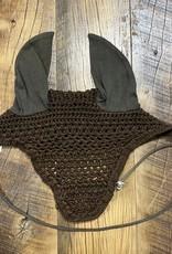 Horse Crochet Fly Bonnet Brown