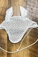 Pony Crochet Fly Bonnet White