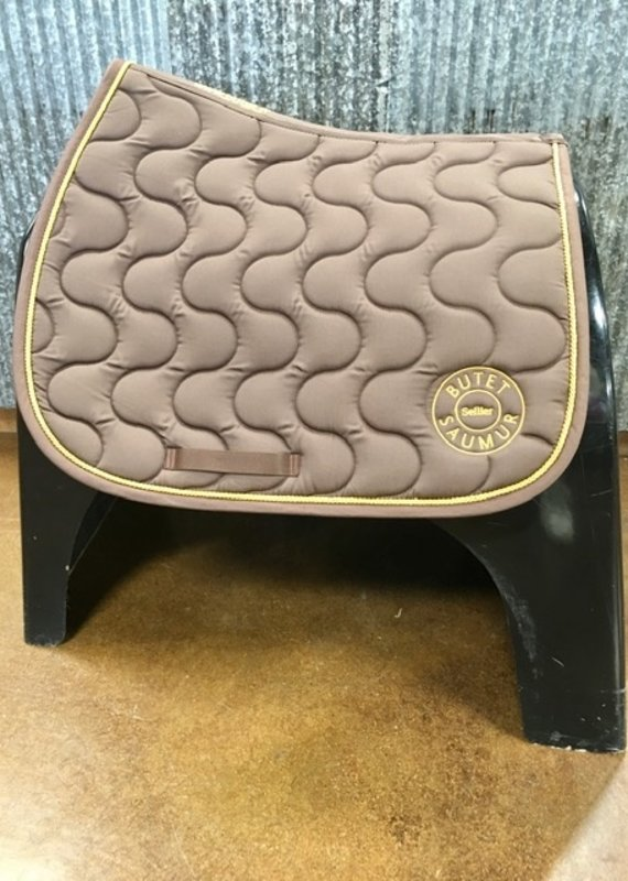 Butet Butet Saddle Pad Brown With Gold Logo