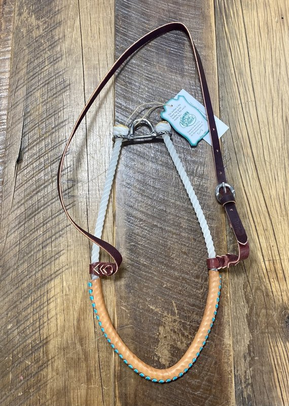 Martin  Saddlery Martin Saddlery Single Rope Leather Covered Tie Down Turquoise Lace
