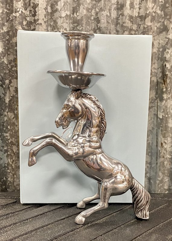Faire Rearing Horse Candle Holder