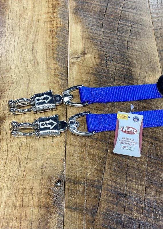 Weaver Leather Weaver Nylon Cross Ties Blue (Pair)