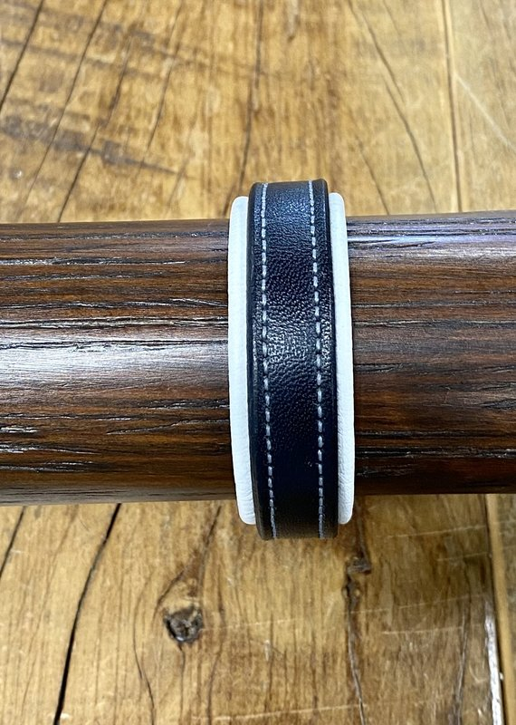Tory Leather Tory Leather Padded Bracelet Black/White