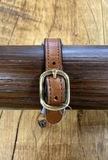 Horse Fare Croc Leather Padded Bracelet Oakbark/Blue