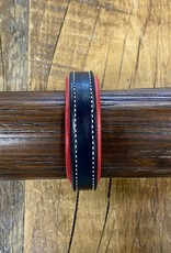 Horse Fare Classic Leather Padded Bracelet Black/Red