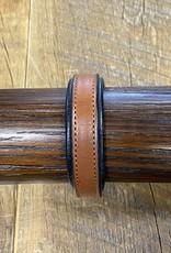 Horse Fare Croc Leather Padded Bracelet Oakbark/Black