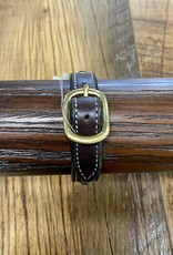 Horse Fare Plain Leather Bracelet With Sapphire/Ruby/Topaz Crystal Rivets
