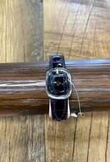 Horse Fare Croc Leather Padded Bracelet Black Patent/Pale Pink