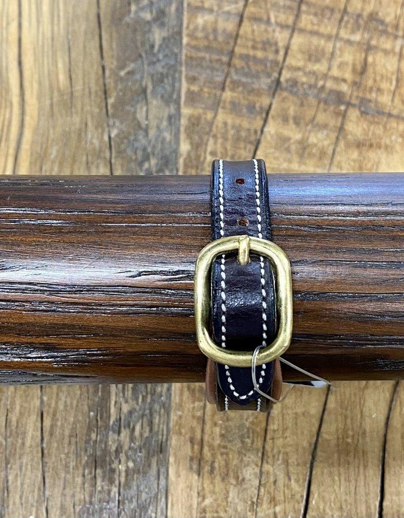 Horse Fare Classic Leather Padded Bracelet Dark Brown/Chestnut