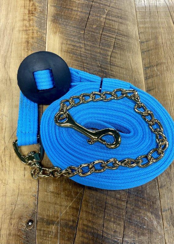 Jacks Jacks Lunge Cotton Webbing Line with Chain Light Blue